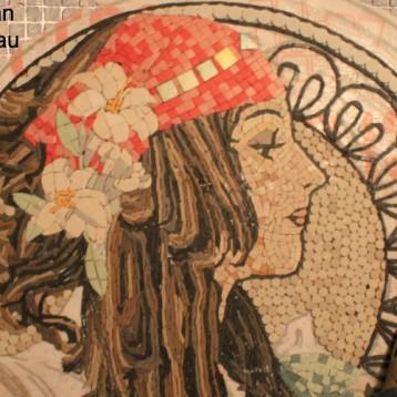 Art nouveau mosaics woman